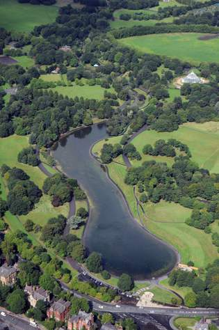 Sefton Park Aerial View