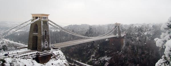 Clifton Suspension Bridge in Snow