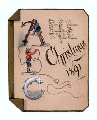 Victorian Watercolour Christmas Card