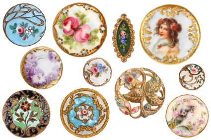 Highly Decorative Victorian Buttons circa 1890