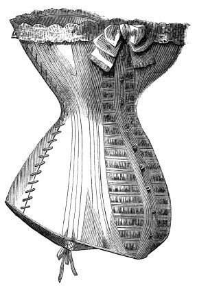 Diagram of a corset