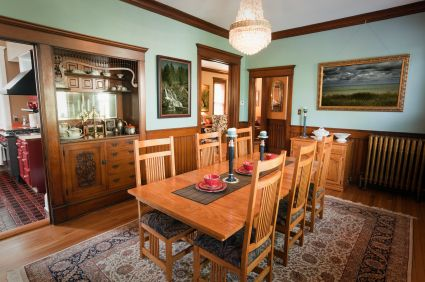 Dining Room Of A Victorian House