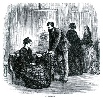 Man and woman wearing Victorian clothes