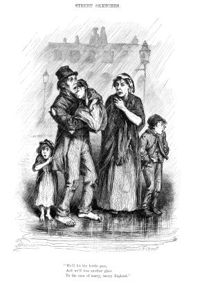 What usually happened to poor people during the victorian times?
