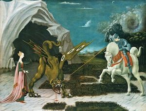 Paolo Uccello - Saint George, the Princess, and the Dragon (1460) (c) Cea via Flickr