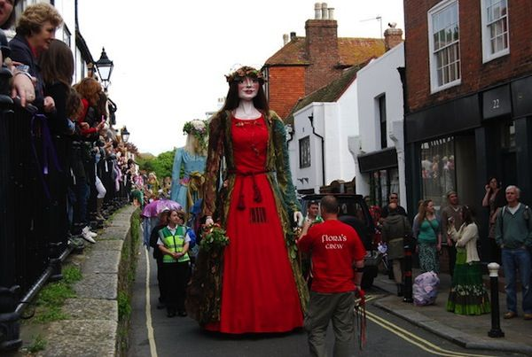 Flora The Giant at Jack In The Green Festival (c) Nigel Chadwick via Wikimedia Commons