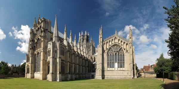Ely cathedral in Eastern England