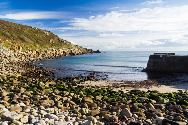 Lamorna Cove in Cornwall, in South West England
