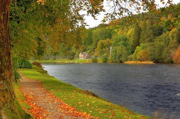The River Spey on an autumn day