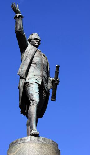 Statue of Captain Cook in Sydney