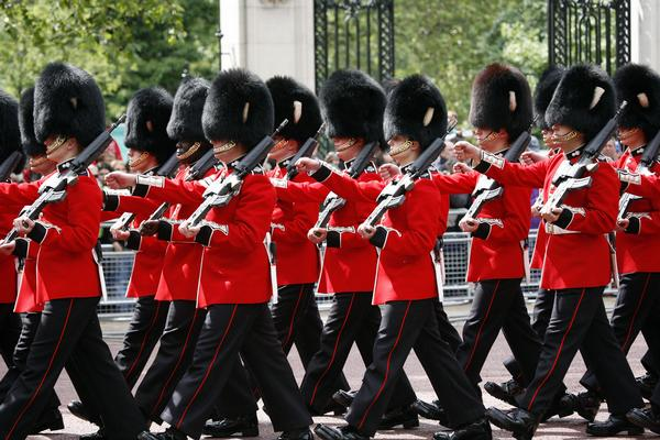 Queen's Soldiers at Queen's Birthday Parade