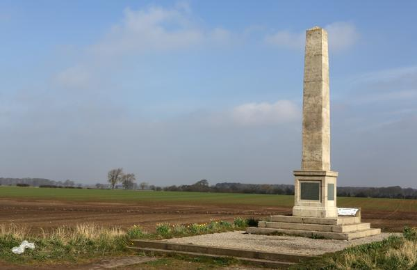 Stone monument at Marston Moor