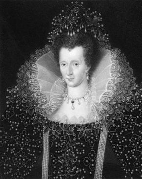 Black and White print of Portrait of Queen Elizabeth I
