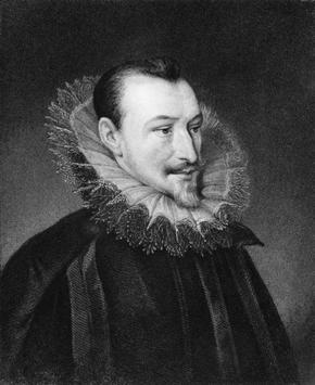 Portrait of Edmund Spenser showing Elizabethan Clothing including ruff