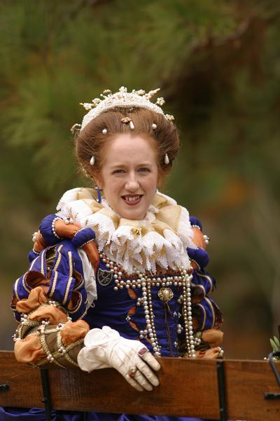 Actress Dressed as Queen Elizabeth I
