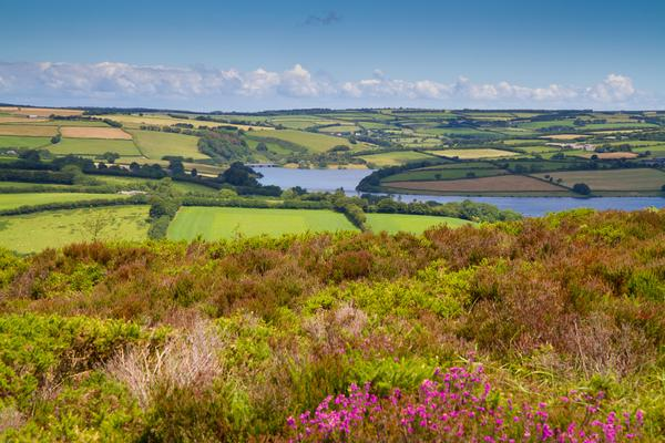 Landscape including Wimbleball Lake in Somerset