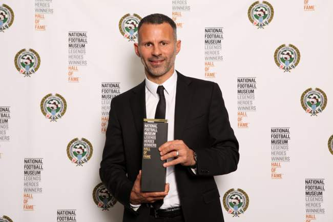 Ryan Giggs entering the NFM Hall of Fame