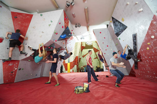 Bouldering at the Manchester Climbing Centre