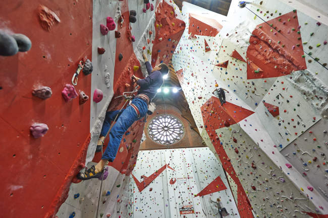 Lead Climbing at the Manchester Climbing Centre