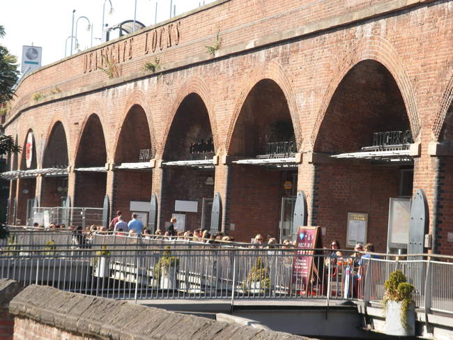The Comedy Club is in the arches at Deansgate Locks