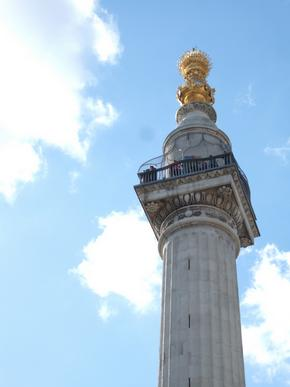 The top of Monument - commemorating the Great Fire Of London