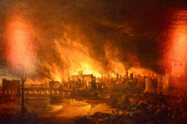 The Great Fire, Seen From Tower Wharf