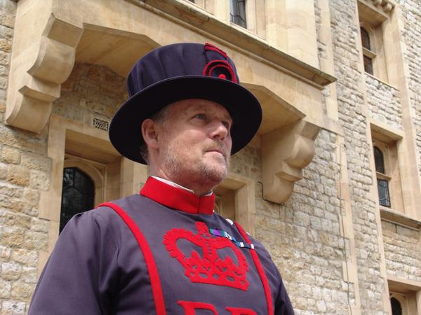 A Yeoman of the Guard at the Tower of London