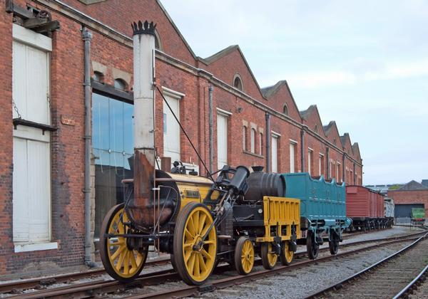 Stephenson's Rocket, one of the first steam locomotives in the world