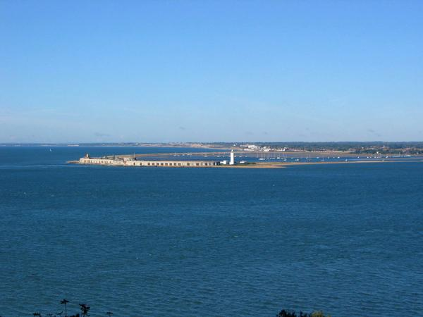 Hurst Castle from the coastal path at Cliff End,near Yarmouth