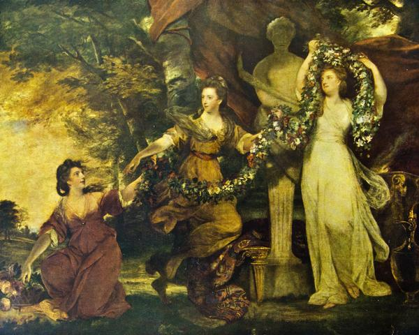 Painting titled Grace by Joshua Reynolds