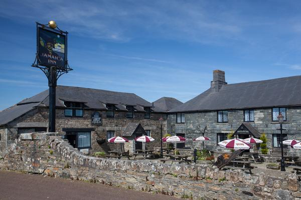Jamaica Inn, Cornwall, from Daphne du Maurier's novel of the same name.