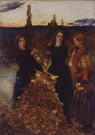 Autumn Leaves by Millais at Manchester Art Gallery