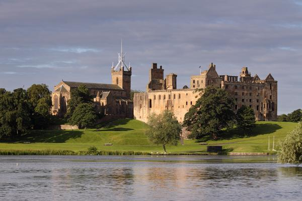 The ruins of Linlithgow Palace near Falkirk, the birthplace of Mary, Queen of Scots