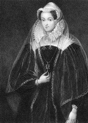 Engraving of Mary I, Queen of Scotland