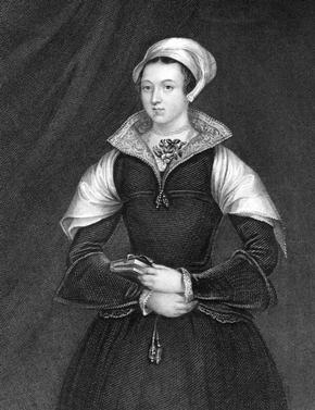 Engraving of Lady Jane Grey