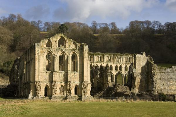 The ruins of Rievaulx Abbey, near Helmsley, North Yorkshire