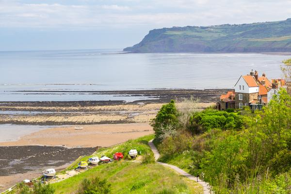 Beach and sea front at Robin Hood's Bay