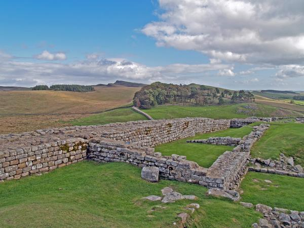 Remains of Housesteads Roman fort on Hadrian's Wall