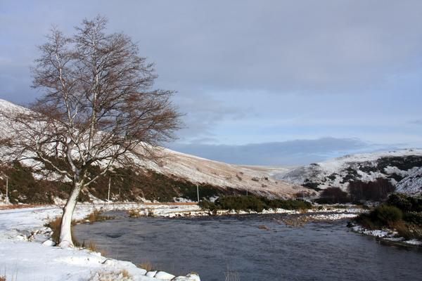 Typical winter view high up in the Ingram Valley in Northumberland's national park
