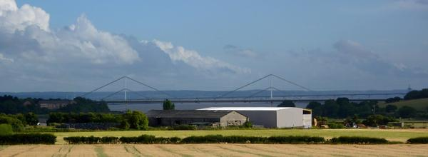 New Severn Bridge from Offa's Dyke Path