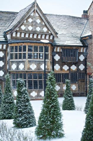 Ordsall Hall in Snow