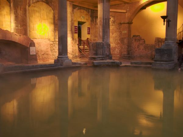Roman Baths With Lights