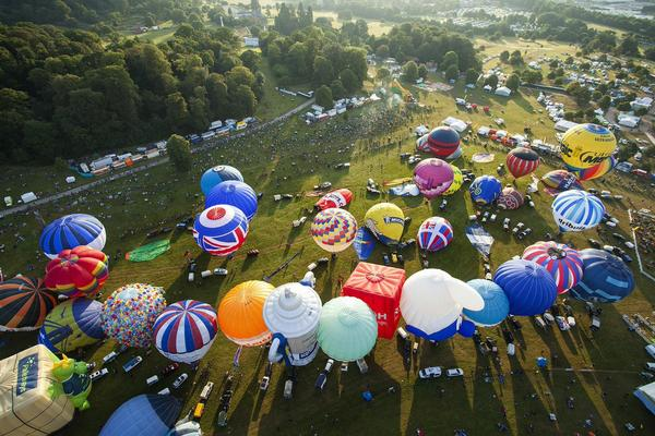 Bristol International Balloon Fiesta from the air