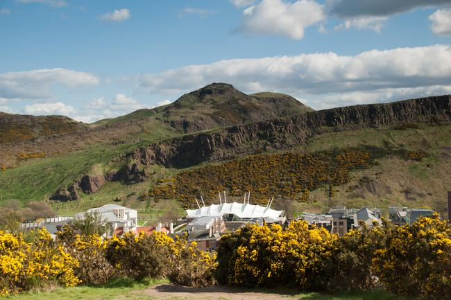 Arthur's Seat, Edinburgh with Dynamic Earth in forground