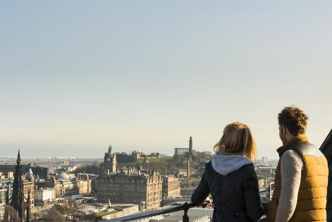 Romantic Views from Edinburgh Castle