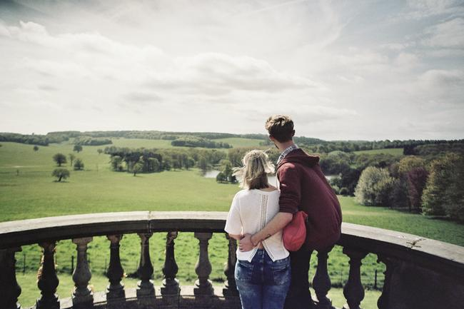Enjoying the view at Harewood