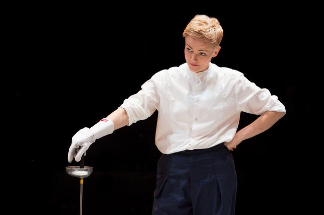 Maxine Peake as Hamlet at the Royal Exchange Theatre