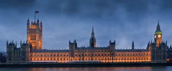 Houses of Parliament, also known as the Palace of Westminster, at night