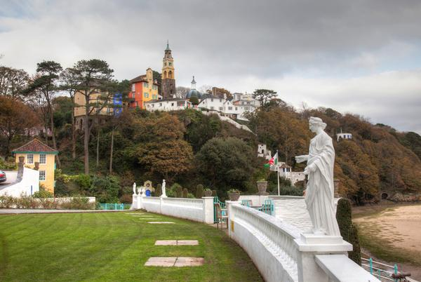 Portmeirion Village an Italian style village in the heart of Snowdonia National Park North Wales