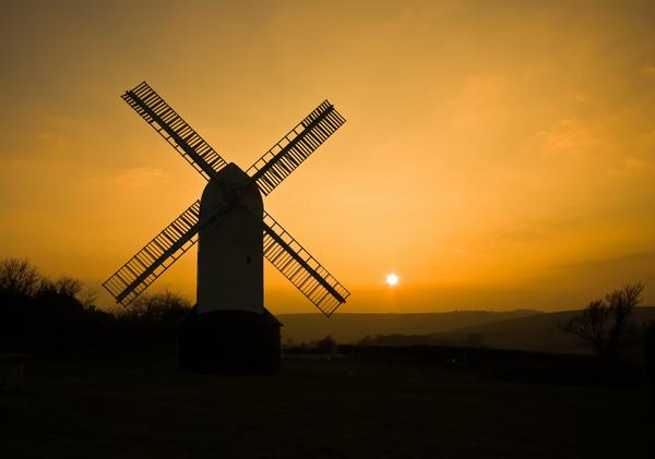 Jill Windmill on the South Downs above Clayton in West Sussex